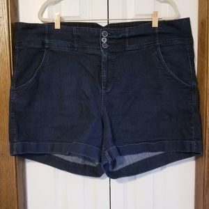 Torrid denim shorts with cute detailed buttons